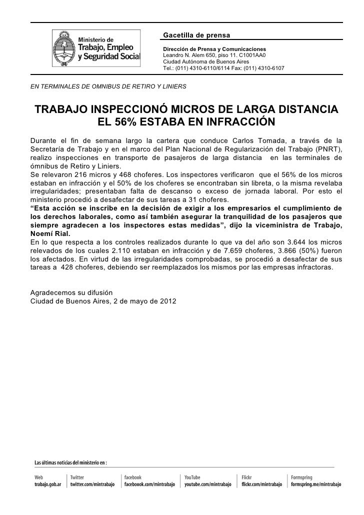 Gacetilla de prensa                                       Dirección de Prensa y Comunicaciones                            ...