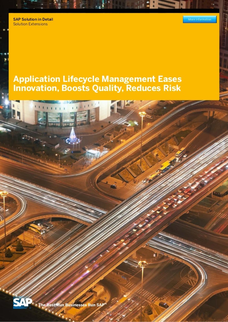 Application Lifecycle Management with SAP Solution Extensions