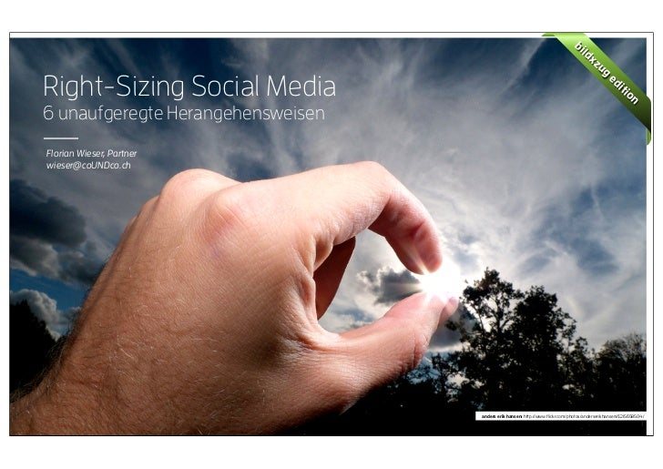 coUNDco - Right-Sizing Social Media - Bildxzug Edition