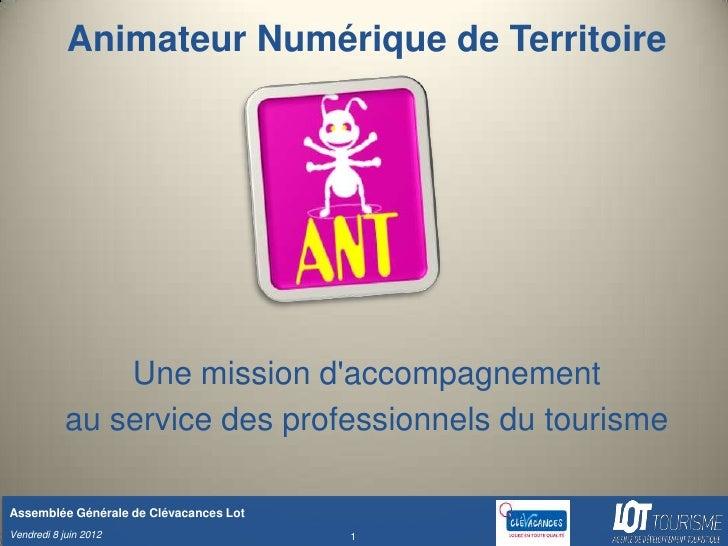 Animateur Numérique de Territoire                Une mission daccompagnement            au service des professionnels du t...