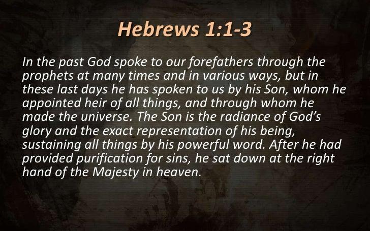 Résultats de recherche d'images pour «hebrews 1»