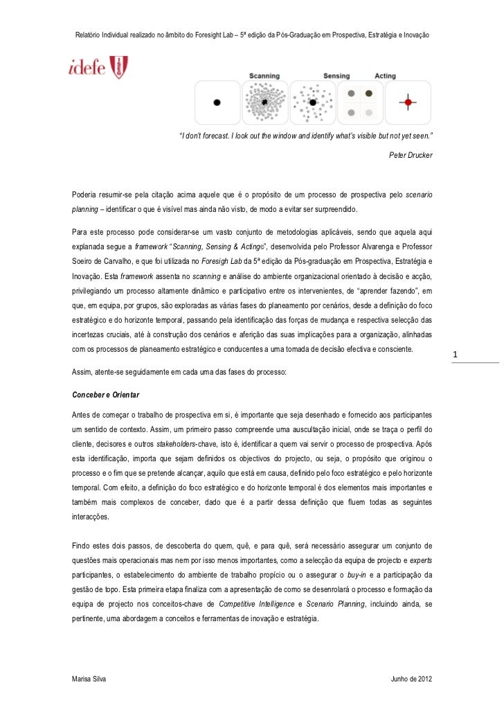 Relatório Individual realizado no âmbito do Foresight Lab – 5ª edição da Pós-Graduação em Prospectiva, Estratégia e Inovaç...