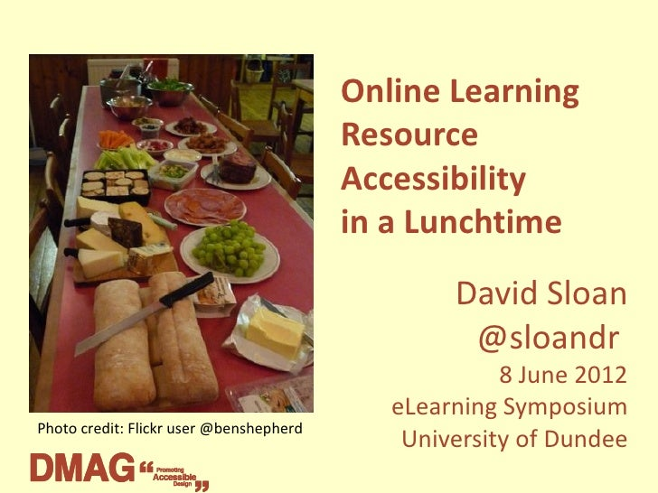 Online Learning Resource Accessibility in a Lunchtime