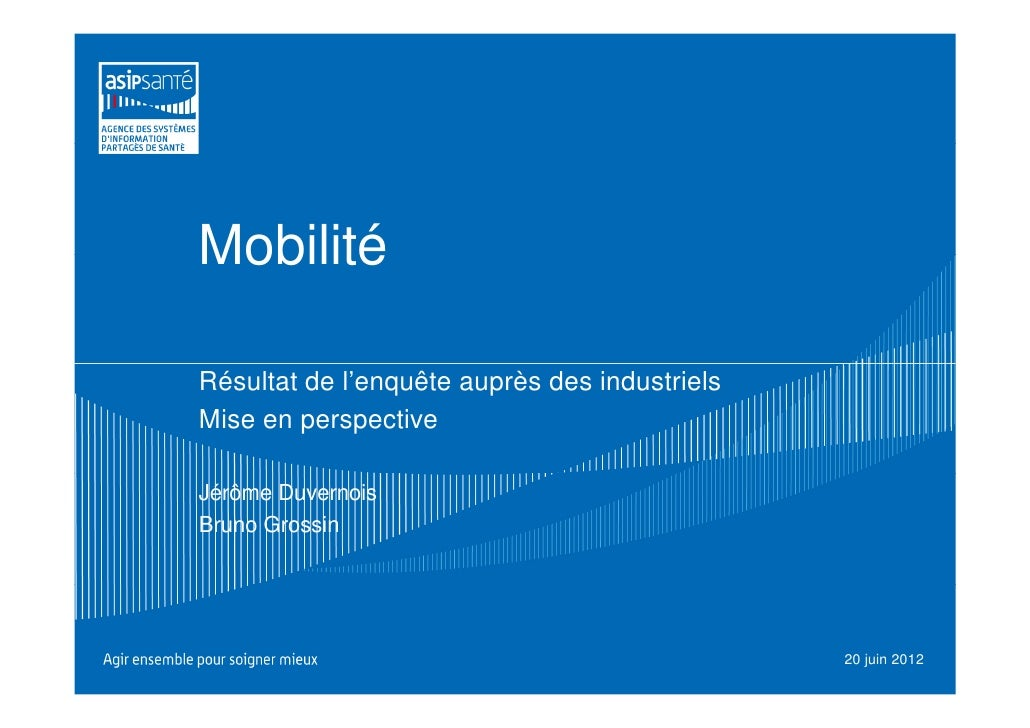 MobilitéRésultat de l'enquête auprès des industrielsMise en perspectiveJérôme DuvernoisBruno Grossin                      ...