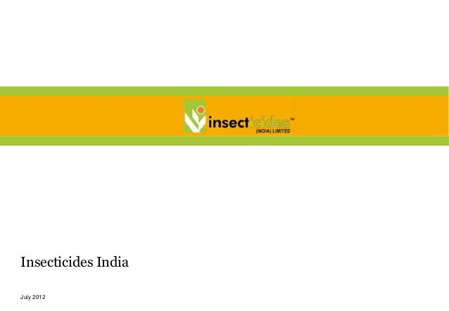 Insecticides IndiaJuly 2012