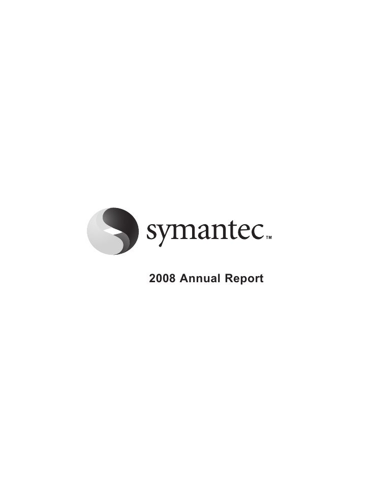 Symantec  2008AnnualReport_Proxy_10-K
