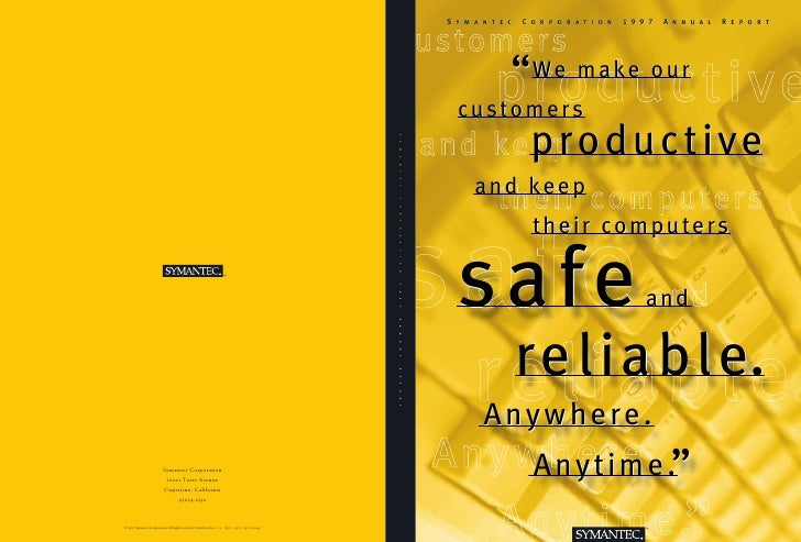 Symantec   Corporation   1997   Annual   Report                                                                           ...