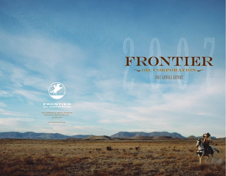 frontier oil annual reports 2007