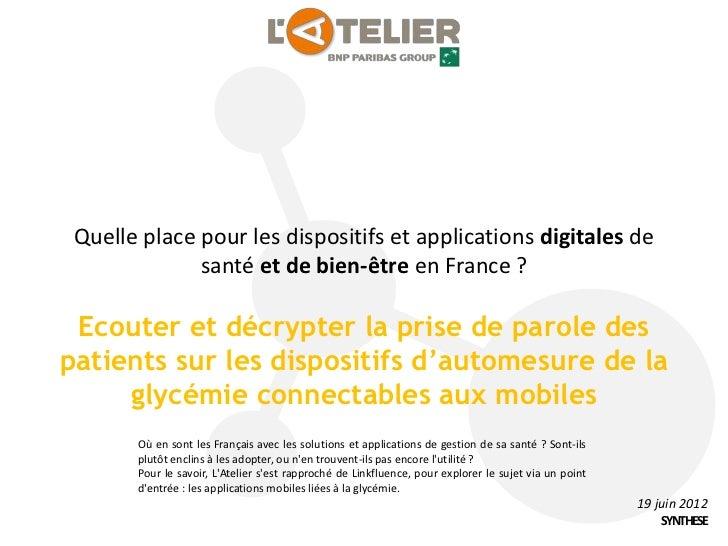 Quelle place pour les dispositifs et applications digitales de              santé et de bien-être en France ? Ecouter et d...