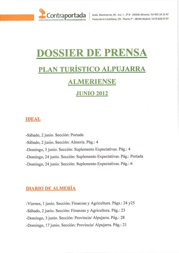 120701 dossier plan turístico alpujarra almeriense junio 2012