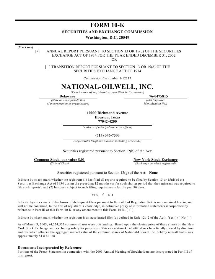 national oilwell varco 2002 Form 10-K