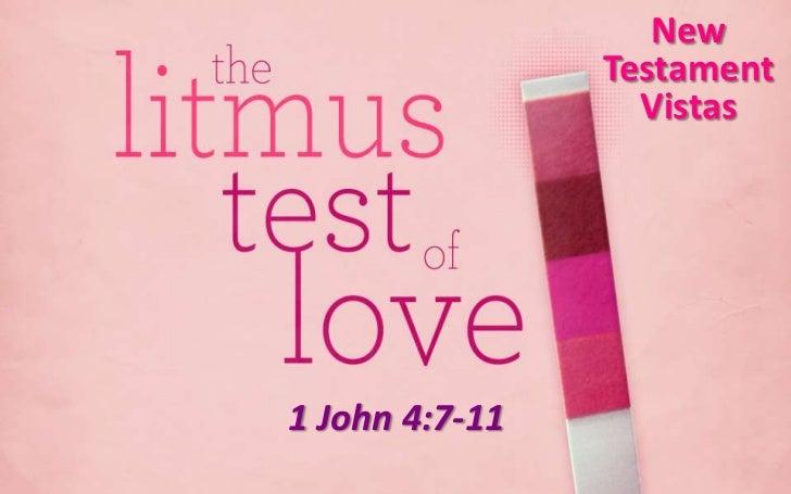 New                Testament                  Vistas1 John 4:7-11