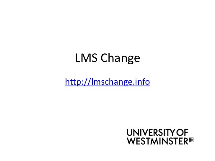 LMS Chnage project - Introduction