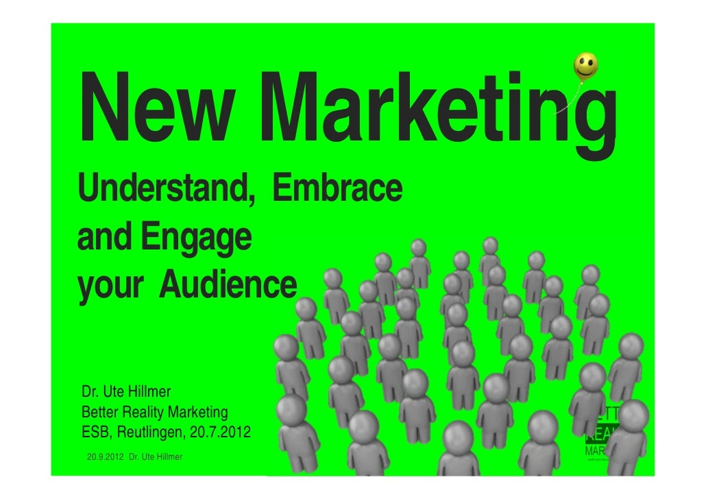 New Marketing - Why Dialog and Engagement?