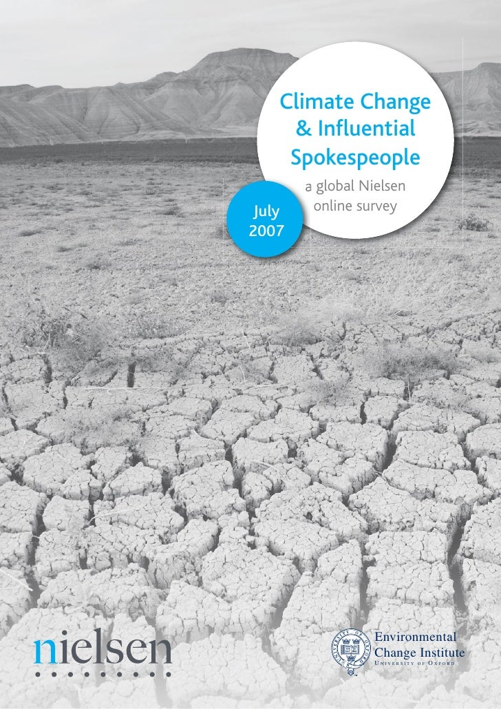 Climate Change      & Influential      Spokespeople         a global Nielsen          online survey  July 2007            ...