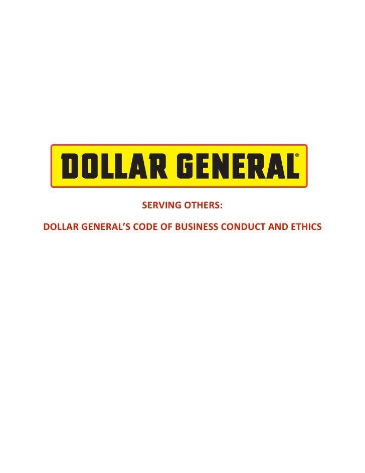 dollar general CodeofEthics2008