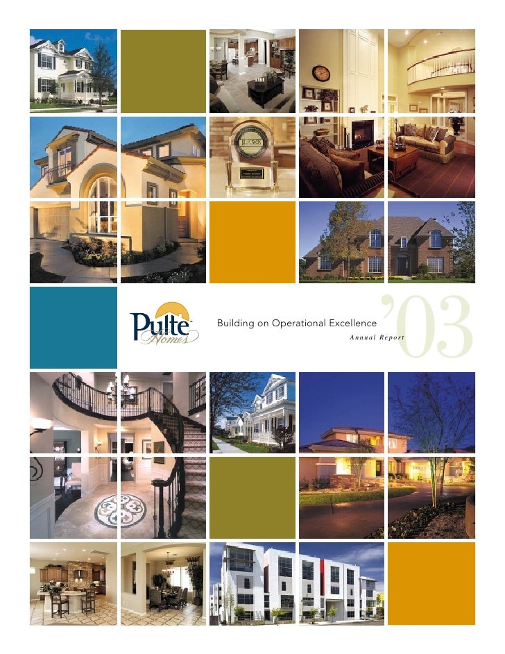 '03 Building on Operational Excellence                             Annual Report