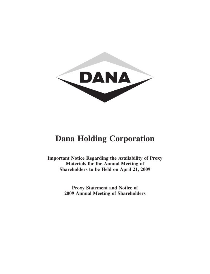 dana 2009ProxyStatement5612