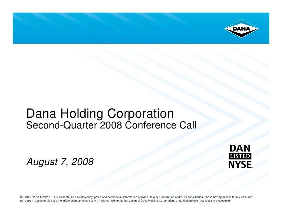 dana holdings Q208Earnings_080708