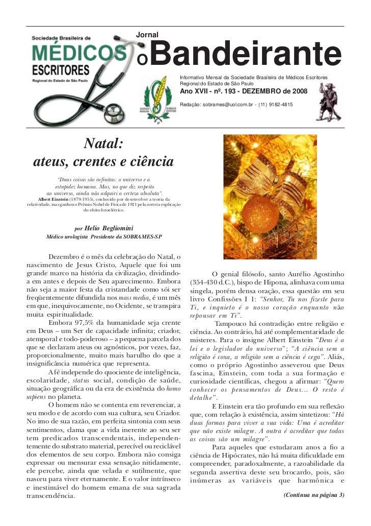 O Bandeirante - n.193 - Dezembro de 2008