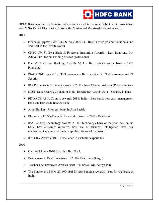 history of hdfc bank in india pdf free