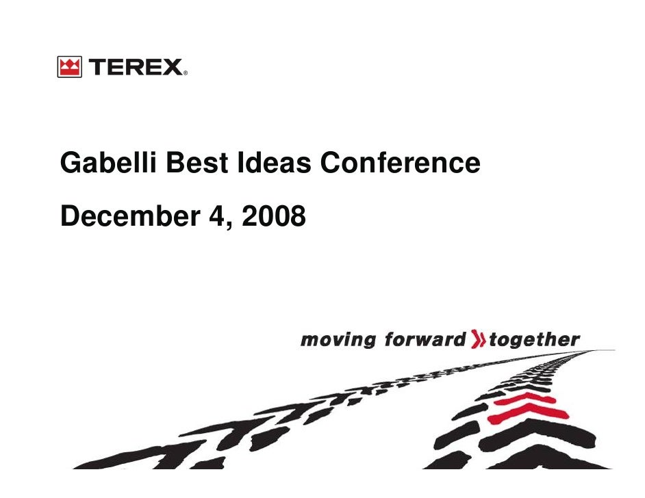 Gabelli Best Ideas Conference December 4, 2008
