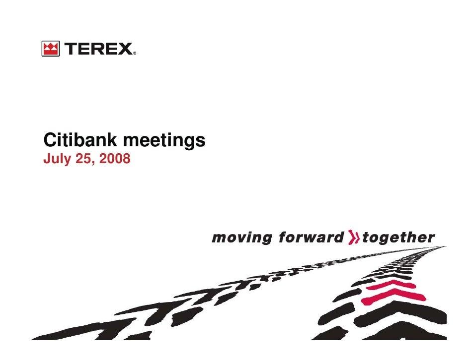 Citibank meetings July 25, 2008