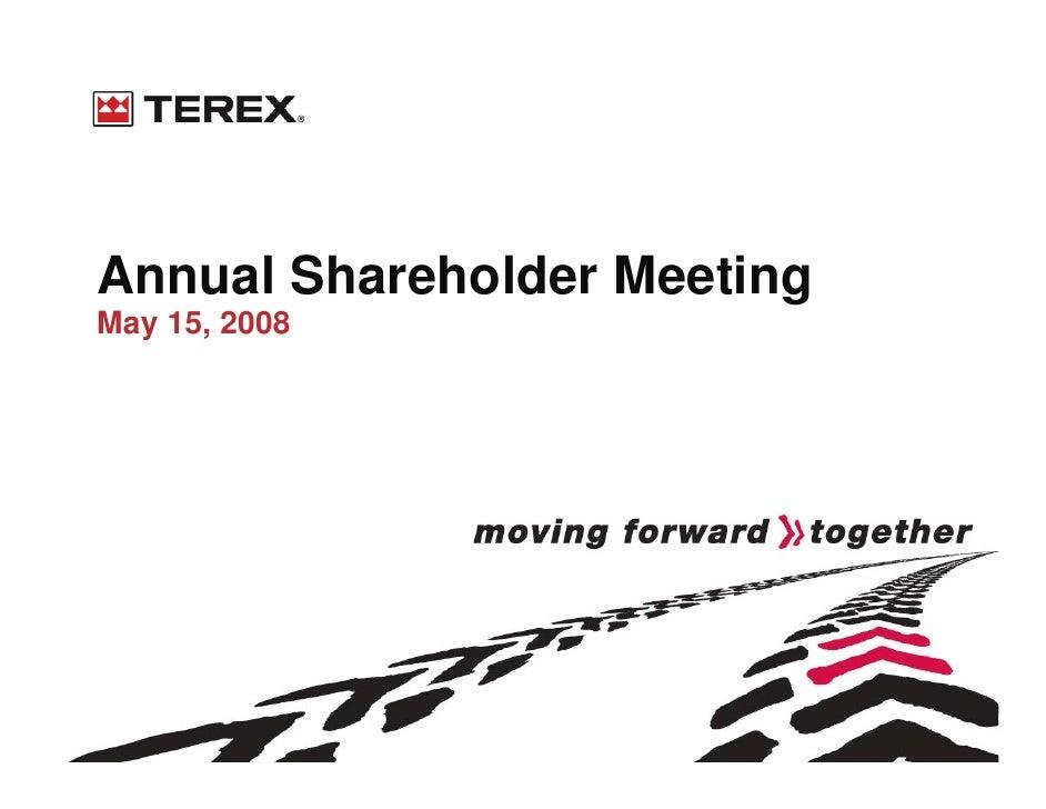 terex Shareholders0508