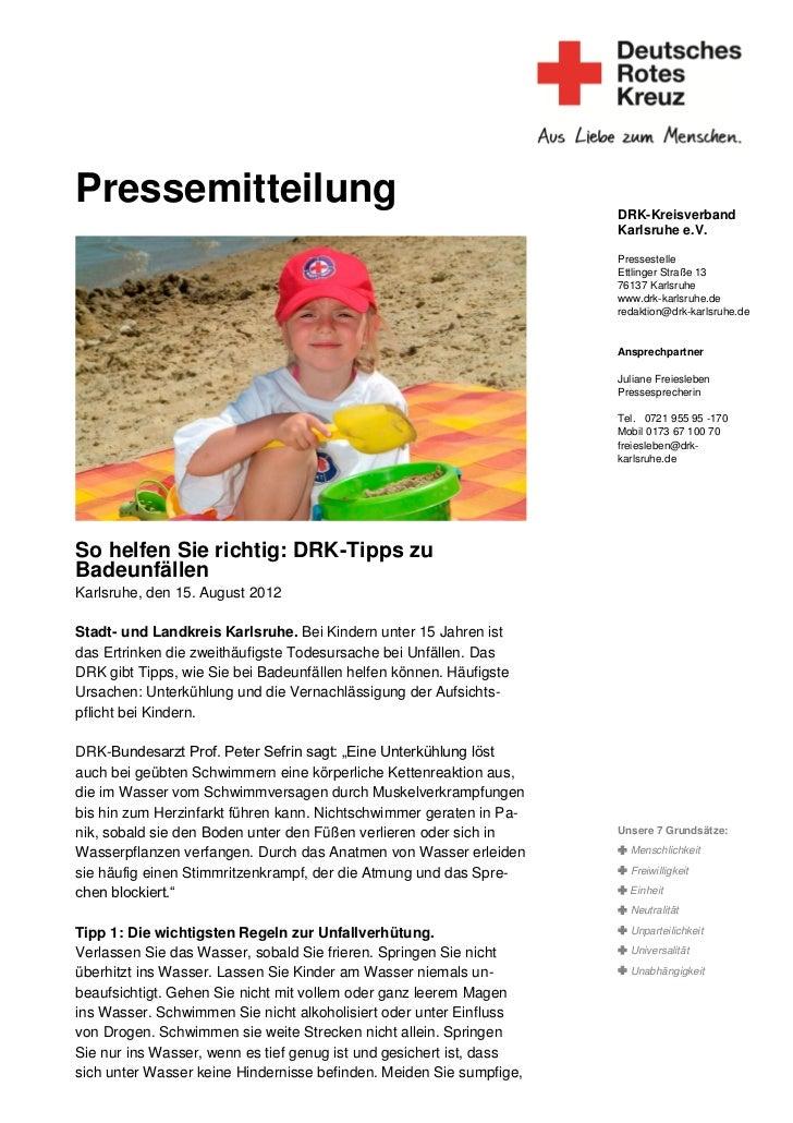 Pressemitteilung                                                     DRK-Kreisverband                                     ...
