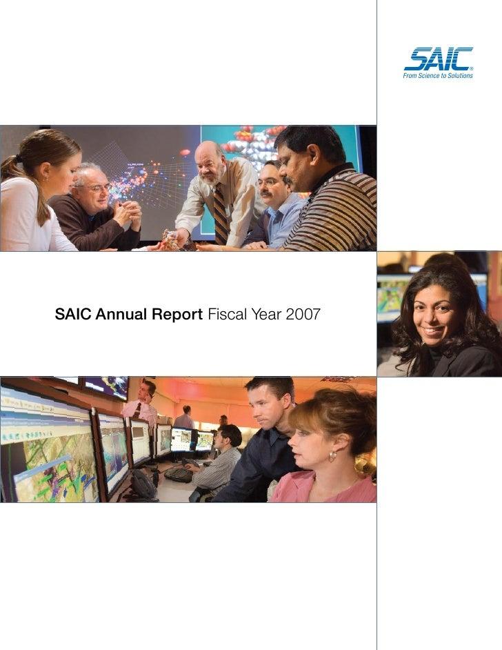 saic annual reports 2007