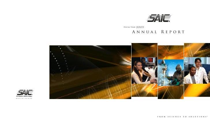 2OO5            Fiscal Year                     Annual        Report     saic.com                                         ...