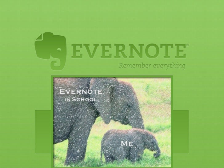 Evernote education usage