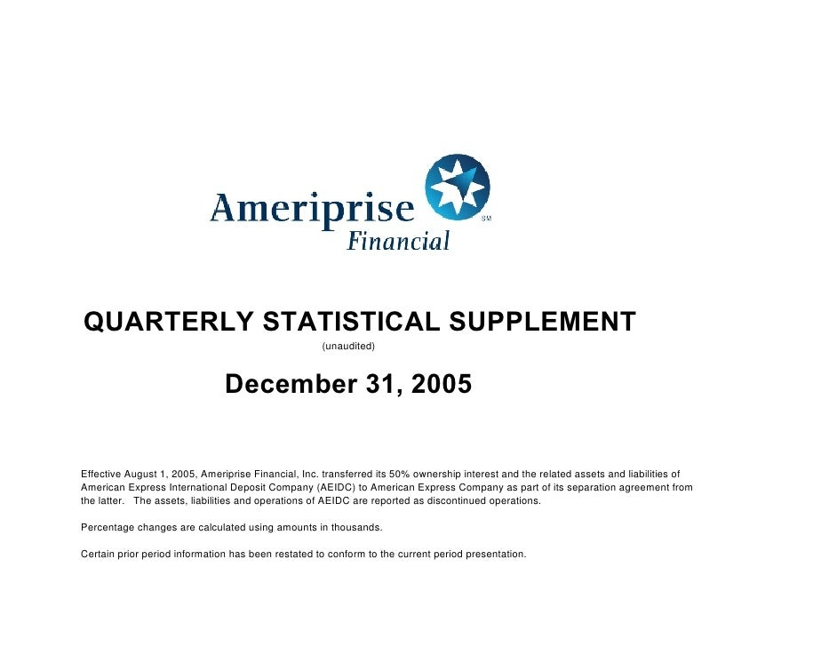 ameriprise 4Q05_Supplement
