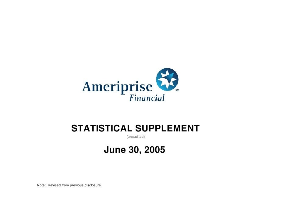 STATISTICAL SUPPLEMENT                                               (unaudited)                                          ...