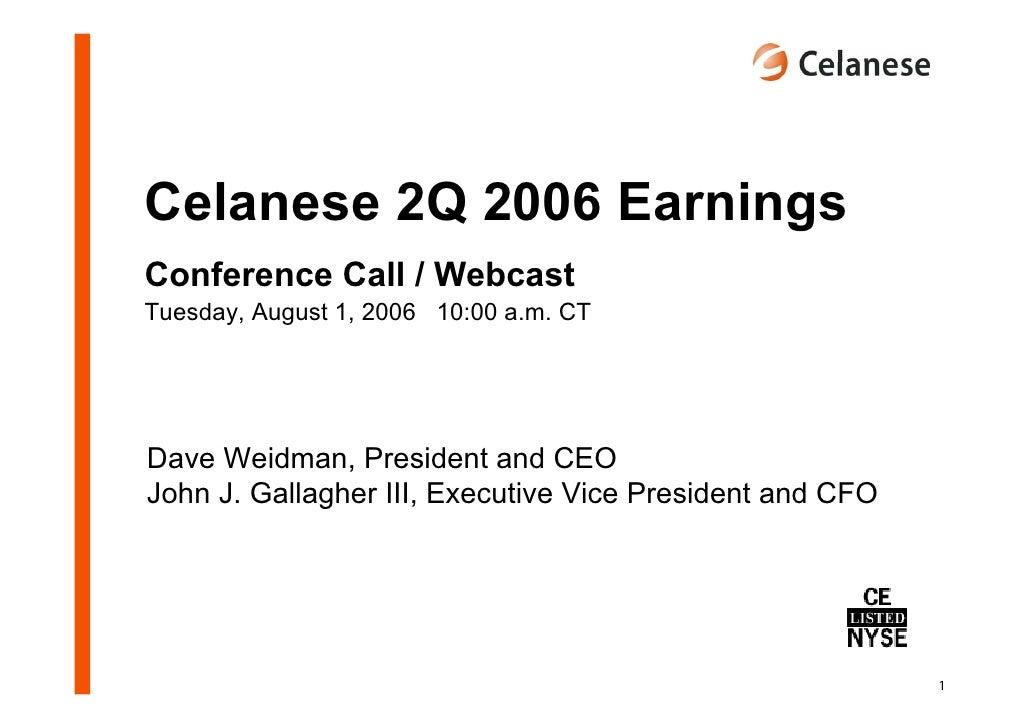 celanese q2_2006_presentation
