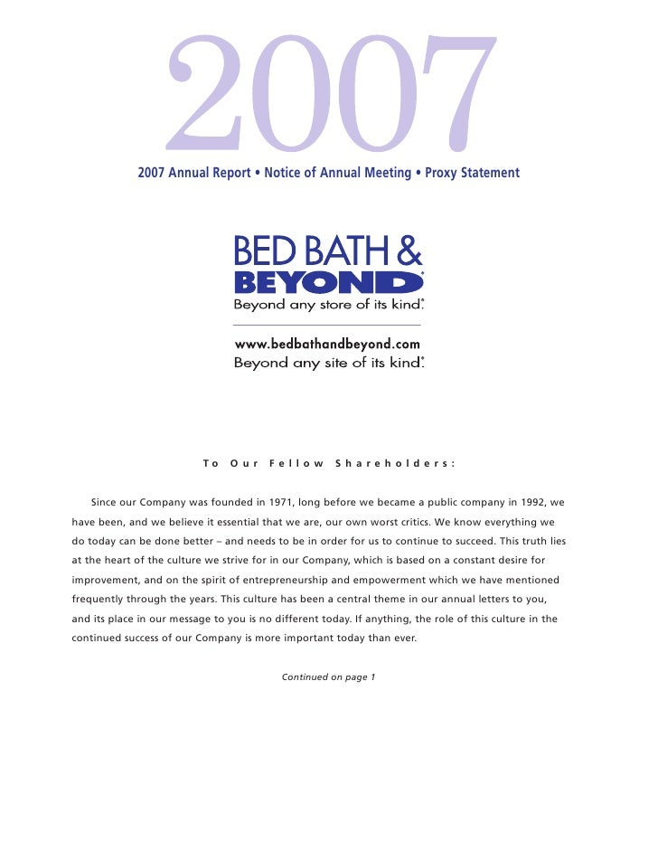 bed bath&beyond BBBY_AR2007_proxy_v3