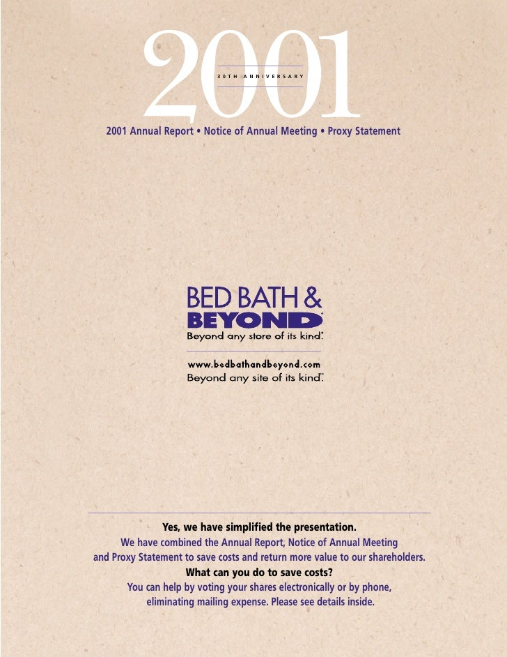 30TH   ANNIVERSARY       2001 Annual Report • Notice of Annual Meeting • Proxy Statement                     Yes, we have ...
