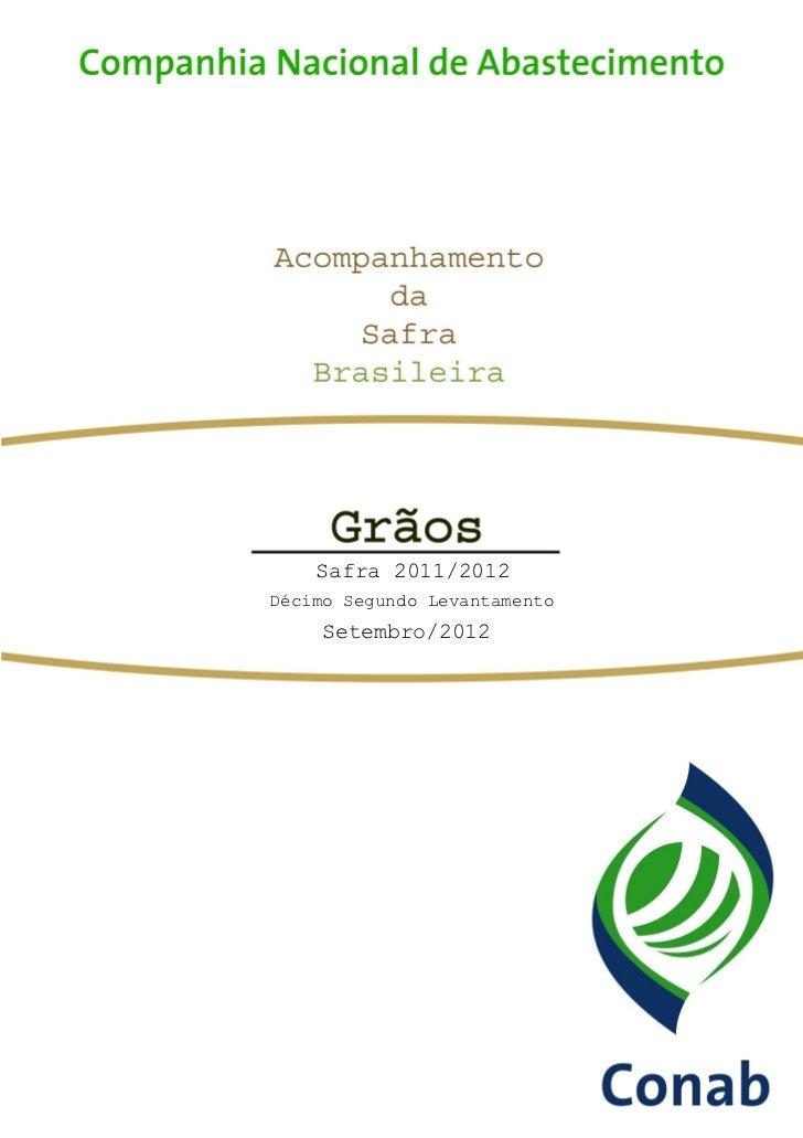 CONAB - Safra Grãos - set/12
