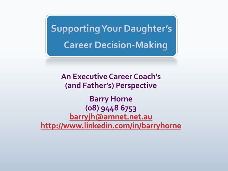 Supporting Your Daughter's Career Decision-Making