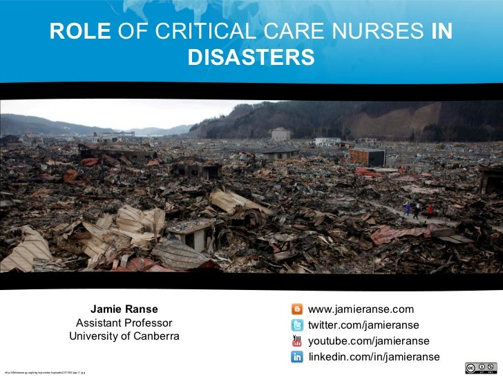 Role of critical care nurses in disasters