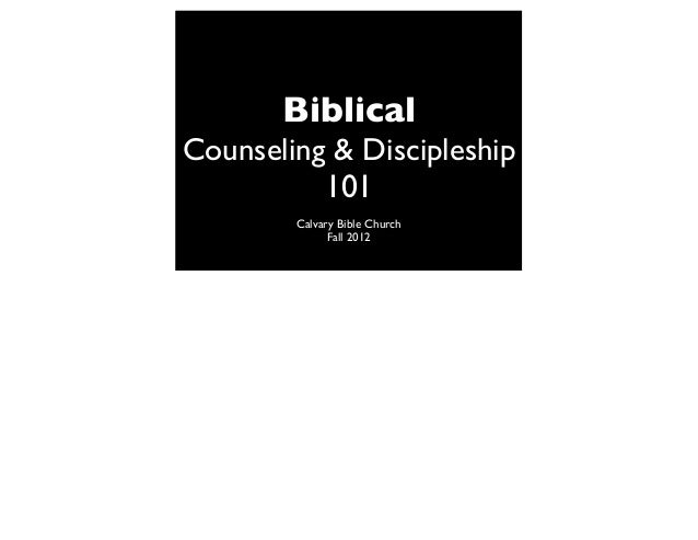 BC&D-1: What is the definition of Biblical Counseling