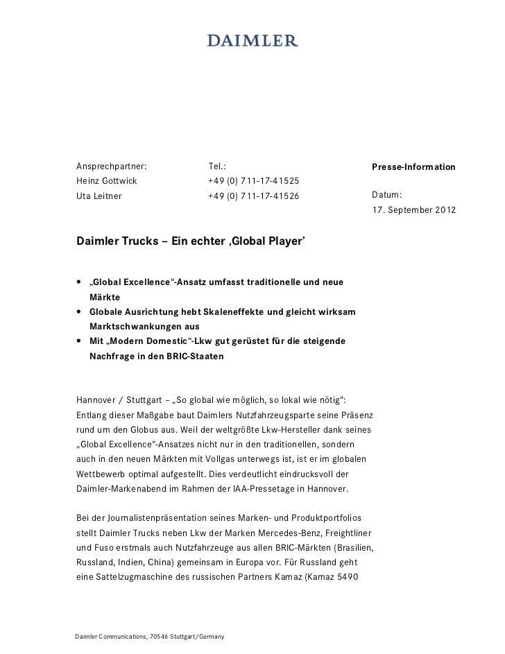 Ansprechpartner:                         Tel.:                        Presse-InformationHeinz Gottwick                    ...