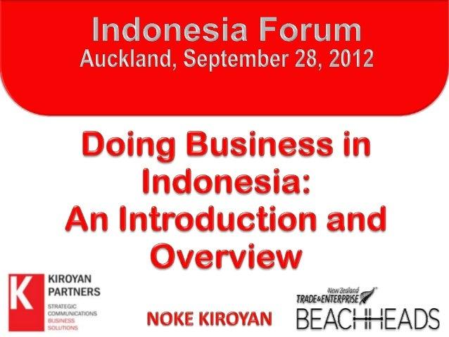 120928 nk indonesia forum - auckland