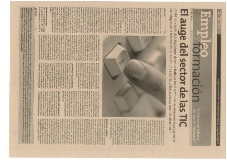 Suplemento Empleo y Formación - Diari Menorca - 29_09_2012
