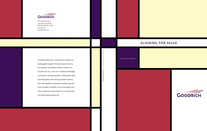 ALIGNING FOR VALUE    2003 Annual Report