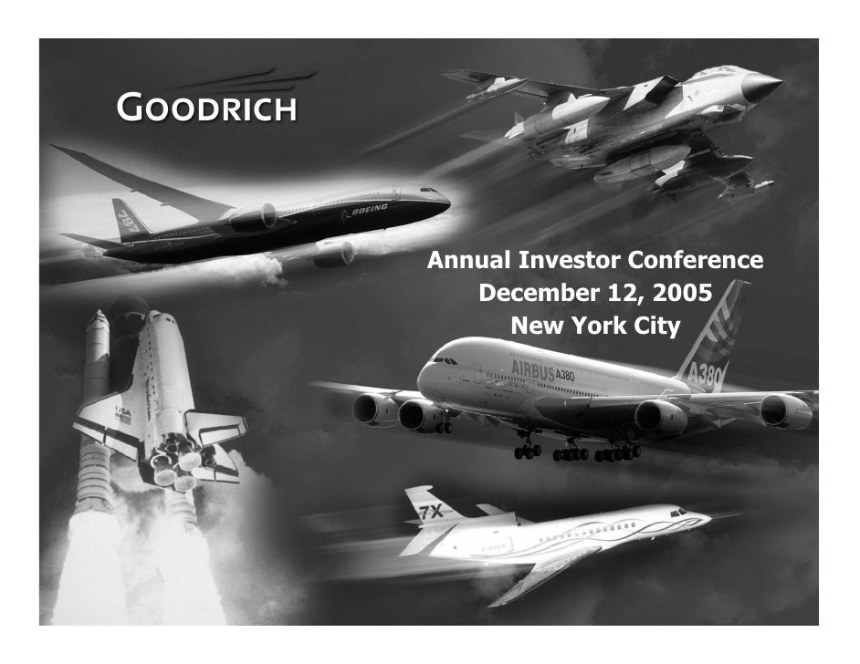 Annual Investor Conference        December 12, 2005           New York City     1