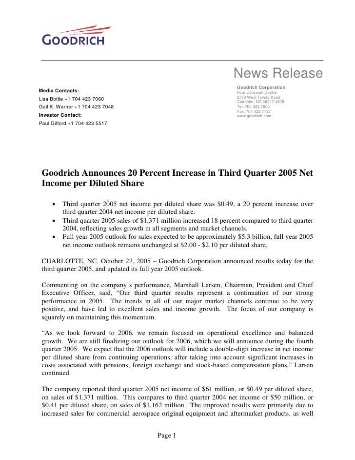 goodrich  3Q05_Release