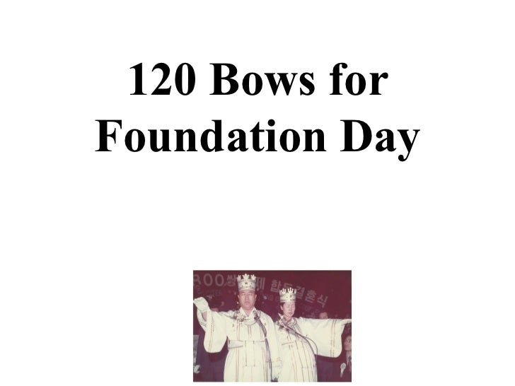 120 Bows forFoundation Day