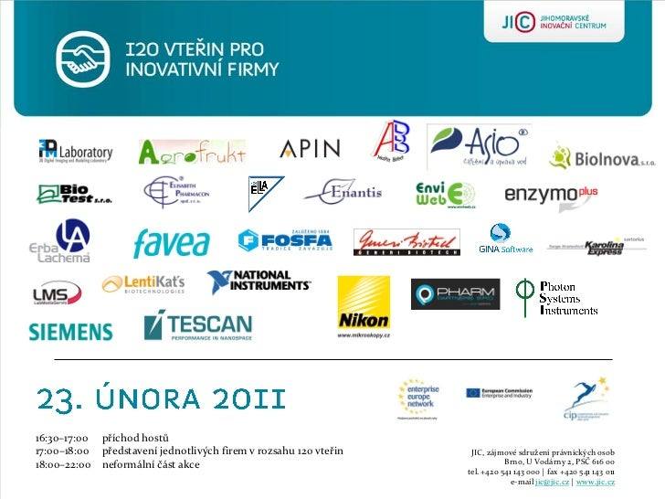 Katalog - 120 vteřIn pro inovativní firmy - 23.2.2011