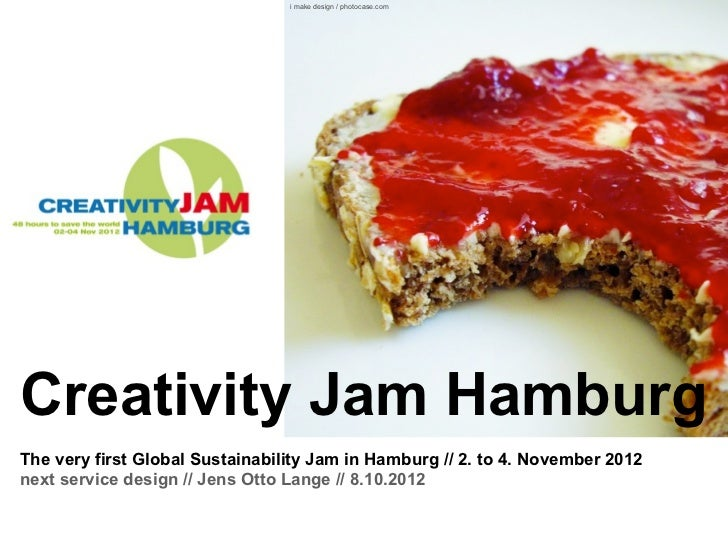 i make design / photocase.comCreativity Jam HamburgThe very first Global Sustainability Jam in Hamburg // 2. to 4. Novembe...